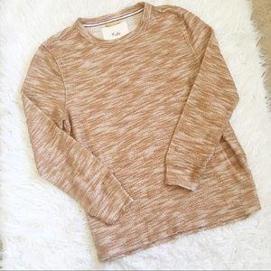 Koto Lightweight Tan Heather Sweater, Size L